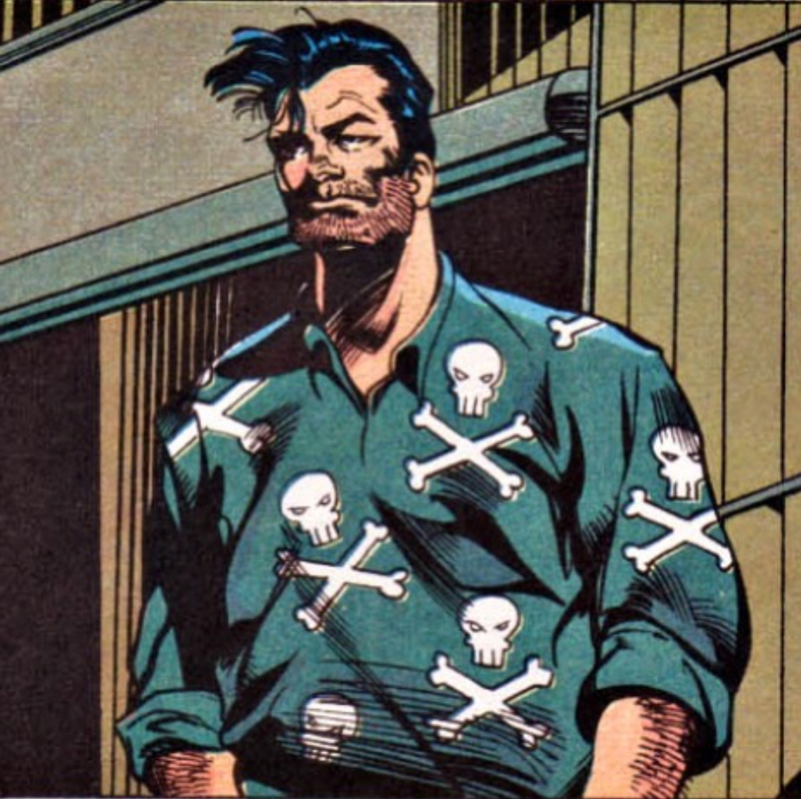 punisher in hawaiin shirt